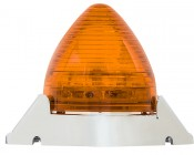 """Beehive LED Truck Trailer Light with Chrome Base - 2-1/2"""" LED Marker Clearance Light with 13 LEDs: Profile View"""