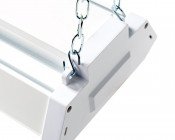 40W LED Shop Light/Garage Light w/ Pull Chain - 4' Long: Use S-Hooks to Attach Hanging Chain to Light