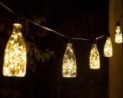 LED Bottle Light Bulbs w/ Integrated LED Fairy Lights - 50 Lumens - Warm White Colorway On String Light LS10-E26