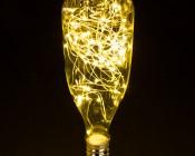 LED Bottle Light Bulbs w/ Integrated LED Fairy Lights - 50 Lumens