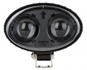 Blue LED Safety Light w/ Arrow Beam Pattern: Front View