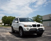 BMW LED Angel Eye Replacement Kit - BMW CREE LED - 40 Watt: Shown Installed On BMW SUV.