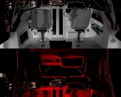 G4 LED Bulb - Dual Color - Bi-Pin LED Disc: Shown Installed On Boat In White And Red (Night Vision) Option.