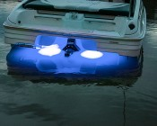 LED Underwater Boat Lights and Dock Lights - Triple Lens - 180W: Installed on Boat