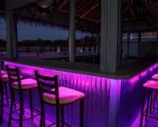 Outdoor LED Strip Lights - Pink 12V LED Tape Light - Weatherproof: Installed Under Outdoor Bar