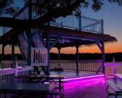Outdoor LED Strip Lights - Pink 12V LED Tape Light - Weatherproof: Installed Under Outdoor Stage