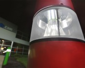 LED Corn Light - 220W Equivalent Incandescent Conversion - E26/E27 Base: Shown Installed In Bollard With Bypassed Ballast In Natural White.