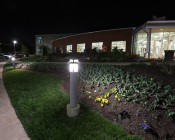 LED Corn Light - 390W Equivalent Incandescent Conversion - E26/E27 Base: Shown Installed In Bollard With Frosted Lens.