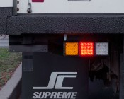 LED Rear Combination Lamps - Truck Stop/Turn/Tail/Reverse Lights w/ Removable Light Heads - Pigtail Connector: Showing Brake Light.