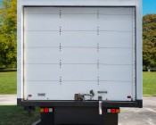 LED Rear Combination Lamps - Truck Stop/Turn/Tail/Reverse Lights w/ Removable Light Heads - Pigtail Connector: Installed on Box Truck