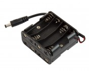 12V DC Battery Power Supply - 8-Cell Battery Holder