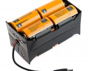 12V DC Battery Power Supply - 8 Cell D Battery Holder: Shown with Batteries Installed (batteries not included)