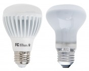 R20 LED Bulb - 7W Dimmable LED Flood Light Bulb: Shown Compared To Incandescent BR20 Bulb