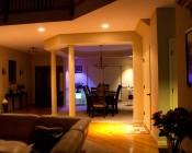 BR40 LED Bulb - 18 Watt - Dimmable LED Flood Light Bulb: Shown Installed In Living Room Can Lighting.