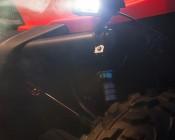 Dual LED Mini Work Light Attached to UTV / ATV