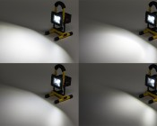 10W Portable Rechargeable LED Work Light w/ USB Charger/Power Bank and Removable Battery - Dimmable - 570  Lumens - 5 Light Settings - 4 levels of Output, 1 Strobe
