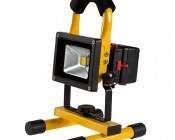 10W Portable Rechargeable LED Work Light w/ USB Charger/Power Bank and Removable Battery - Dimmable - 570 Lumens