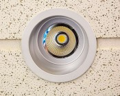 """6"""" Architectural LED Retrofit Downlight: Installed In Ceiling Tile"""