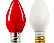 C7 LED Bulbs - Ceramic Style Replacement Christmas Light Bulbs: Profile View