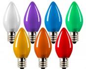 C7 LED Bulbs - Ceramic Style Replacement Christmas Light Bulbs