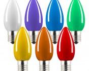 C9 LED Bulbs - Ceramic Style Replacement Christmas Light Bulbs