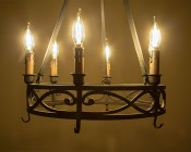 LED Filament Bulb - CA10 LED Candelabra Bulb with 4 Watt Dimmable Filament LED, Bent Tip: Installed in Chandelier