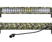 "20"" Camo Off Road LED Light Bar - 144W: Front & Back Views"