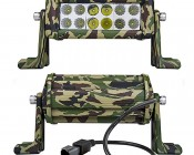 "6"" Camo Off Road LED Light Bar with Spot/Flood Combo - 36W: Front & Back Views"