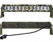 """14"""" Camo Off Road LED Light Bar - 60W: Front & Back Views"""