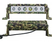 """11"""" Camo Off Road LED Light Bar - 60W: Front & Back Views"""