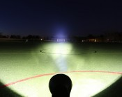 """7"""" Round 45W Heavy Duty High Powered LED Work Light 100 Yards from Goal"""