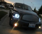AE series Angel Eye Headlight Accent Lights on Customer Vehicle
