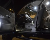 194 LED Bulb - 3 SMD LED - Miniature Wedge Retrofit: Shown Installed In Car Door In Cool White.