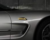 MBT-A25 Amber Side Marker/Turn Signal Blade Shape LED Light Bezel