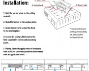 Ceiling Flush Mount Kit for MD series Modular LED Flood Light