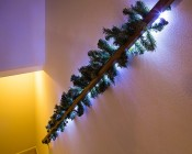 Custom Length LED Waterproof Flexible Light Strip: Customer Installed With Christmas Garland