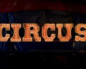 LED Decorative Filament Bulbs Illuminating Circus Marquee Sign
