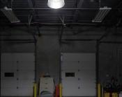 LED Corn Light - 500W Equivalent HID Conversion - E39/E40 Mogul Base - 11,500 Lumens - 5000K - Installed in Warehouse - Profile View