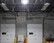 LED Corn Light - 700W Equivalent HID Conversion - E39/E40 Mogul Base - 17,600 Lumens - 5000K - Installed in Warehouse - Profile View
