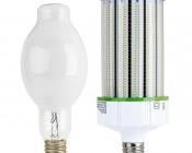 LED Corn Light - 750W Equivalent HID Conversion - E39/E40 Mogul Base - 16,400 Lumens: Profile View