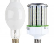 LED Corn Light - 500W Equivalent HID Conversion - E39/E40 Mogul Base - 11,200 Lumens: Profile View