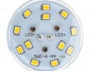 LED Corn Light - 50W Equivalent Incandescent Conversion - E26/E27 Base - 500 Lumens: Top View
