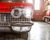 "5"" Round H5006 LED Projector Headlights - LED Headlights Conversion - Sealed Beam: Installed in 1960 Cadillac"