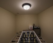 "15"" Oil Rubbed Bronze Housing Dimmable LED Flush Mount Ceiling Light: Installed In Game Room"