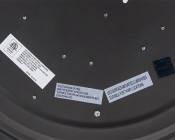 """16"""" Dimmable LED Flush Mount Ceiling Light: Close Up Of Labels On Back"""