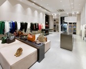 BR30 LED Bulb - 15 Watt - Dimmable LED Flood Light Bulb: Shown Installed In Clothing Store In Natural White.