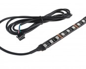 "ATV & UTV - Color Changing Weatherproof RGB LED Glow Strip Accent Lighting Kit: 52"" cord length."