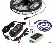 Color Chasing RGB LED Light Strip Kit - Flexible LED Tape Light with 9 SMD LEDs/ft. -  3 Chip RGB SMD LED 5050: All Included Parts