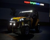 """40"""" Off Road LED Light Bar - 120W - 15,000 Lumens: 40"""" Lightbar Shown On Top Of Can-am"""