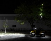 """LED Work Light - 5.5"""" Round - 45W - 3,825 Lumens: Shown Shining Up Into Trees"""